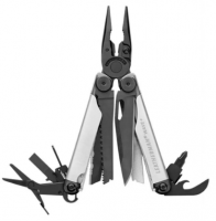 Мультитул Leatherman  WAVE PLUS BLACK & SILVER, нейлоновый чехол